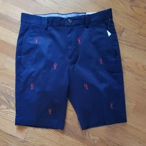 NWT Brooks Brothers Navy shorts with lobsters W32